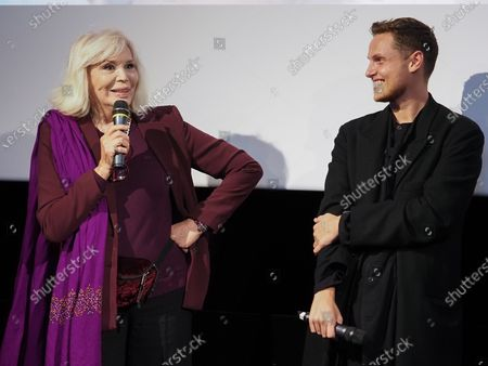 "Stock Picture of Amanda Lear and Alexandre Wetter attend ""Miss"" Premiere at the Club Etoile Cinema"