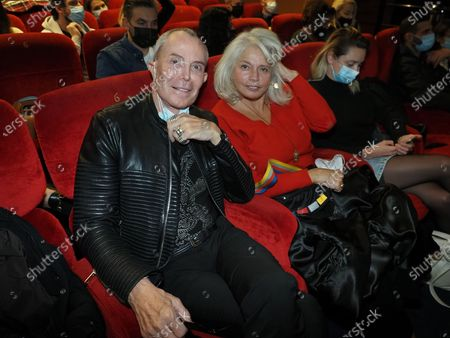 """Stock Photo of Jean-Claude Jitrois and a guest attend """"Miss"""" Premiere at the Club Etoile Cinema"""