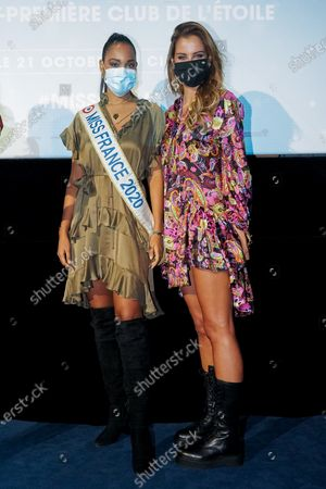 "Clemence Botino and Malika Menard attend ""Miss"" Premiere at the Club Etoile Cinema"