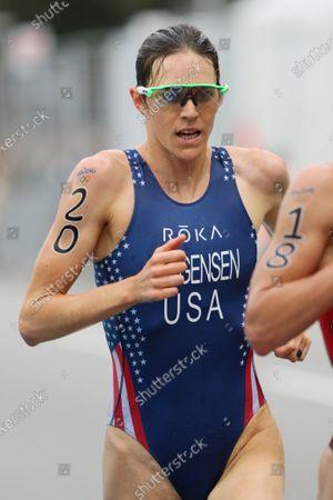 Gwen Jorgensen (USA) - Triathlon :  Women's Final  at Fort Copacabana  during the Rio 2016 Olympic Games in Rio de Janeiro, Brazil.