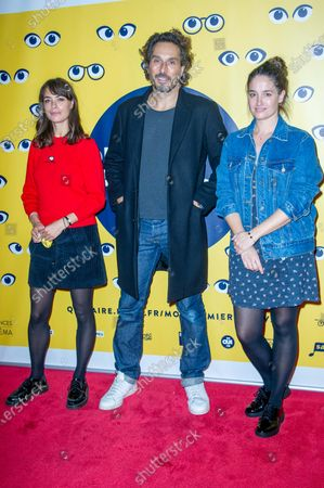 Stock Image of (L-R), Berenice Bejo, Vincent Elbaz and Marie Gillain