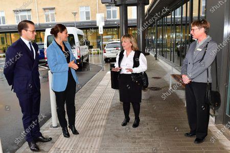 Editorial image of Prince Daniel and Crown Princess Victoria visit Kullbergska Hospital, Katrineholm, Sweden - 22 Oct 2020