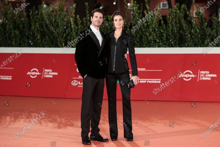 Stock Picture of Giampaolo Morelli with fiancee Loria Bellicchi