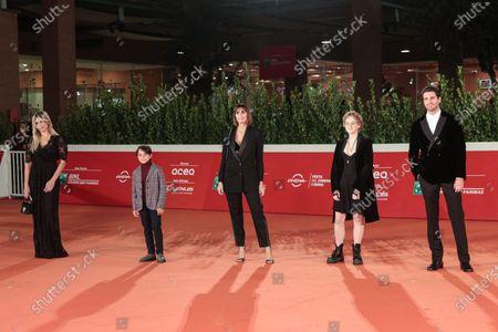 Micaela Ramazzotti, Federico Ielapi, director Elisa Amoruso, Emma Masano, Giampaolo Morelli