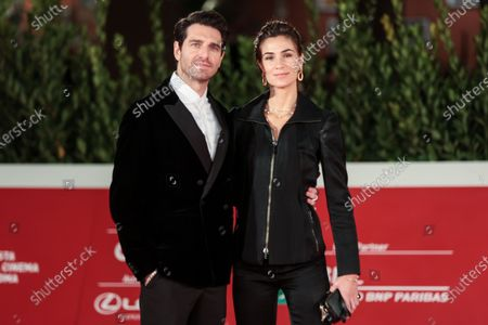 Giampaolo Morelli with fiancee Loria Bellicchi