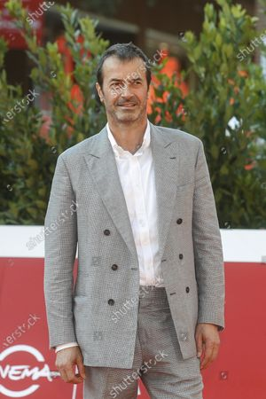 Andrea Occhipinti poses on the red carpet at the 15th annual Rome International Film Festival, in Rome, Italy, 22 October 2020. The film festival runs from 15 to 25 October.