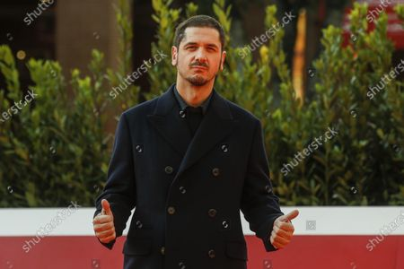 Gabriele Mainetti poses on the red carpet at the 15th annual Rome International Film Festival, in Rome, Italy, 22 October 2020. The film festival runs from 15 to 25 October.