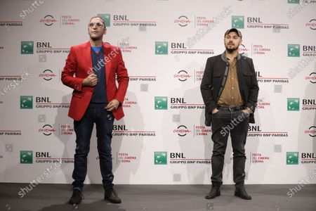 "From left, Actor Adamo Dionisi and Director Alessandro Tonda pose for photographers during the photo call for the movie ""The Shift"" at the Rome Film festival in Rome"