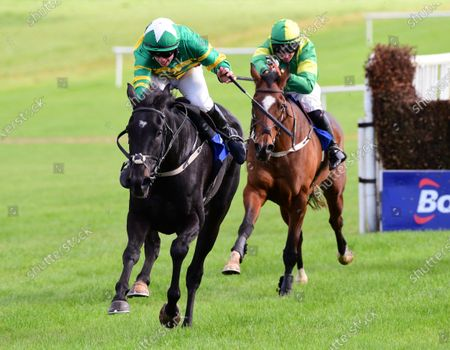 Stock Picture of Thurles STEER CLEAR & Aidan Kelly win the THurles Handicap Steeplechase.