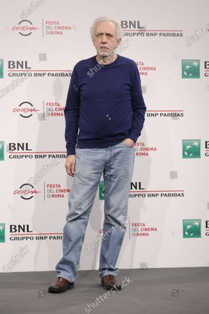 """Director Fernando Trueba poses for photographers during the photo call for the movie """"El olvido que seremos"""" (Forgotten We'll Be)"""" at the Rome Film festival in Rome"""