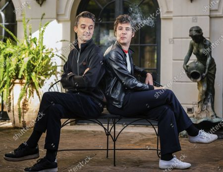 Director Helier Cisterne, left, and actor Vincent Lacoste poses for portraits for the film De nos freres blesses, at the Rome Film Fest in Rome
