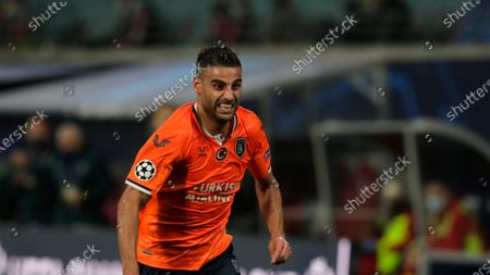 Basaksehir's Aziz Behich runs during the Champions League group H soccer match between RB Leipzig and Basaksehir Istanbul in Leipzig, Germany