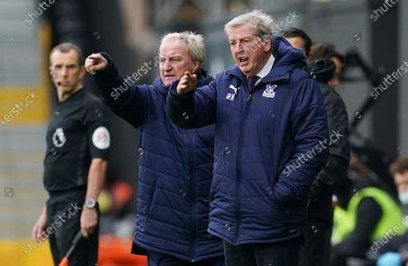 Crystal Palace Manager Roy Hodgson alongside assistant Ray Lewington