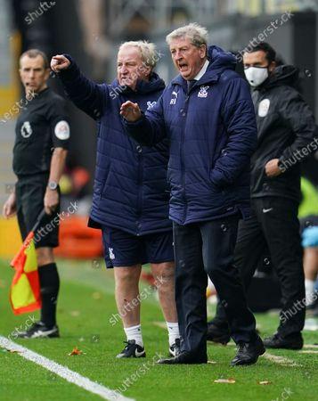 Stock Photo of Crystal Palace Manager Roy Hodgson alongside assistant Ray Lewington