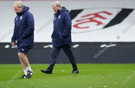 Former Fulham managers Crystal Palace Manager Roy Hodgson and assistant Ray Lewington