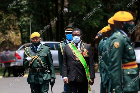 Editorial image of President Emmerson Mnangagwa delivers state of the nation address, Harare, Zimbabwe - 22 Oct 2020