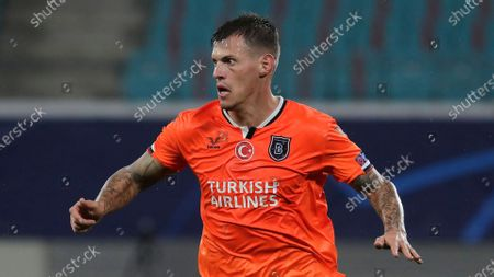 Basaksehir's Martin Skrtel runs during the Champions League group H soccer match between RB Leipzig and Basaksehir Istanbul in Leipzig, Germany