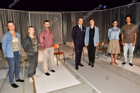 Stock Picture of Crown Princess Victoria and Prince Daniel visit Scenkonst Sörmland (Performing arts Sodermanland) during their day visit to Sodermanland county.