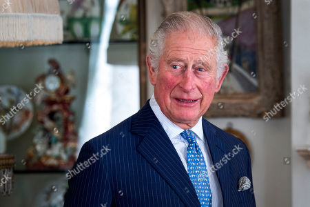 Prince Charles during his meeting with Iraqi Prime Minister Mustafa al-Kadhimi at Clarence House, central London.