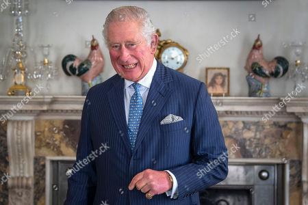 Editorial photo of The Prince of Wales meets Iraqi Prime Minister Mustafa al-Kadhimi, Clarence House, London, UK - 22 Oct 2020