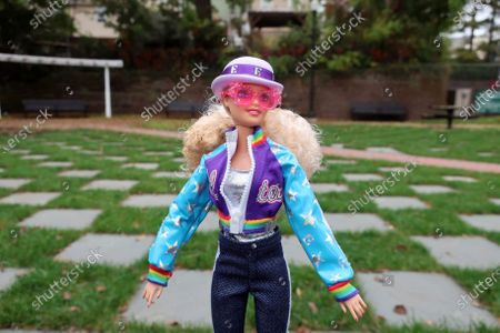 Editorial image of Elton John Barbie, East Rutherford, United States - 22 Oct 2020