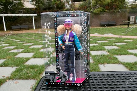 Editorial photo of Elton John Barbie, East Rutherford, United States - 22 Oct 2020
