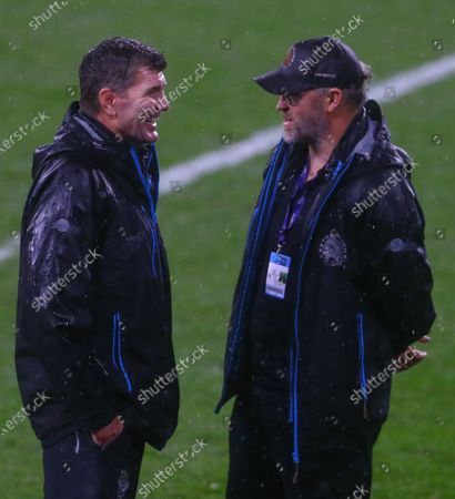 Exeter Chiefs Director of Rugby Rob Baxter is all smiles as his side celebrate