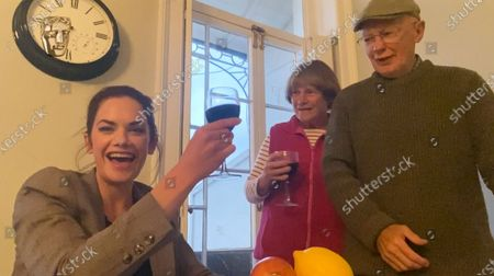 Ruth Wilson (and parents) - Actress, sponsored by Champagne Taiitinger - 'His Dark Materials'