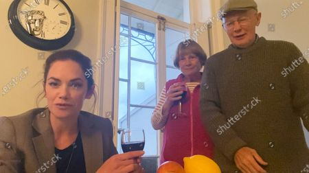 Stock Photo of Ruth Wilson (and parents) - Actress, sponsored by Champagne Taiitinger - 'His Dark Materials'
