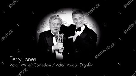 Stock Picture of Terry Jones in the 2020 British Academy Cymru awards Obits