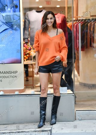 Irina Shayk shops at Falconeri in SoHo