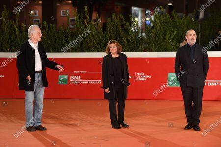 Javier Camara, Fernando Trueba and Laura Delli Colli