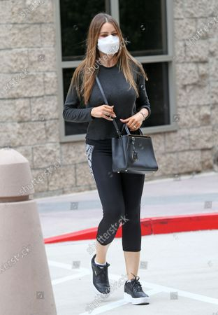 Stock Picture of Sofia Vergara steps out in comfortable attire as she's seen coming out of a medical building