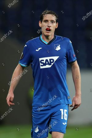 Sebastian Rudy of Hoffenheim looks on during the UEFA Europa League Group L soccer match between TSG Hoffenheim and Crvena Zvezda at PreZero-Arena in Sinsheim, Germany, 22 October 2020.
