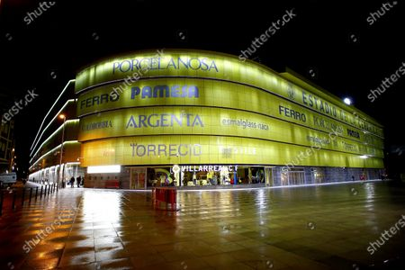 An exterior view of La Ceramica stadium before the UEFA Europe League group I soccer match between Villarreal CF and Sivasspor in Vila-real, eastern Spain, 22 October 2020.