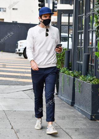 Editorial image of Zachary Quinto out and about, Los Angeles, USA - 22 Oct 2020