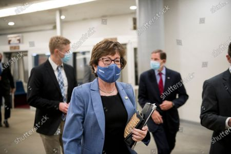 Editorial image of Senators arrive at the US Capitol for a vote., Washington, District of Columbia, USA - 22 Oct 2020