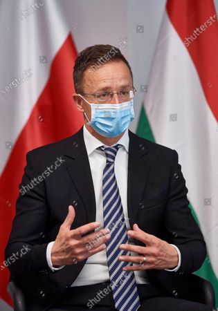 Hungarian Foreign Minister Peter Szijjarto during a visit to Gdansk, north Poland, 22 October 2020.