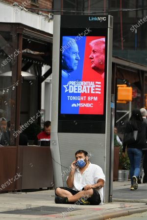 Redaktionelles Foto von 2020 Presidential debate between Vice President Joe Biden and Donald Trump, New York, USA - 22 Oct 2020