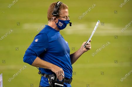 Stock Picture of New York Giants offensive coordinator Jason Garrett looks on during the NFL football game, in Philadelphia