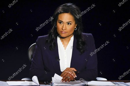 Debate moderator Kristen Welker listens during the final presidential debate at Belmont University in Nashville, Tennessee, USA, 22 October 2020. This is the last debate between the US President Donald Trump and Democratic presidential nominee Joe Biden before the upcoming presidential election on 03 November.
