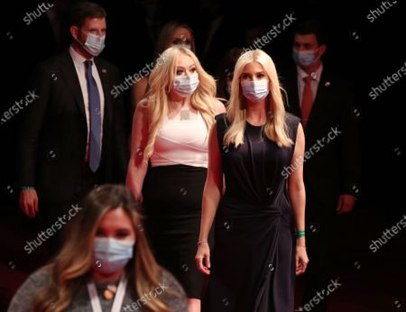 (L-R) Eric Trump, Tiffany Trump and Ivanka Trumparrive  before the start of the presidential debate between US President Donald J. Trump and Democratic candidate Joe Biden in the Curb Event Center at Belmont University in Nashville, Tennessee, USA, 22 October 2020. The debate is the final debate between US President Donald J. Trump and Democratic candidate Joe Biden before the US election on 03 November.