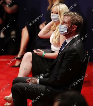 Tiffany Trump and Eric Trump sit in the audience before the start of the presidential debate between US President Donald J. Trump and Democratic candidate Joe Biden in the Curb Event Center at Belmont University in Nashville, Tennessee, USA, 22 October 2020. The debate is the final debate between US President Donald J. Trump and Democratic candidate Joe Biden before the US election on 03 November.