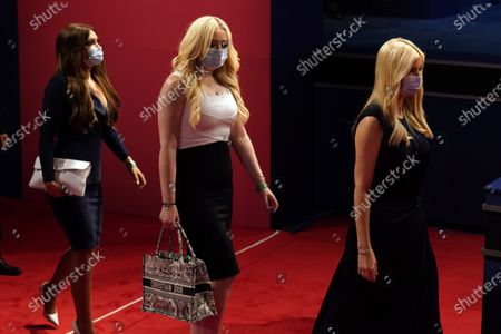 Kimberly Guilfoyle, Tiffany Trump and White House adviser Ivanka Trump arrive for the second and final presidential debate, at Belmont University in Nashville, Tenn