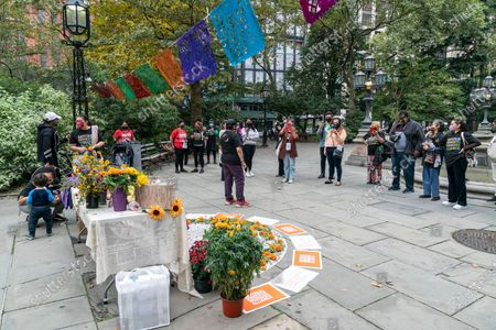Editorial photo of National Domestic Workers Alliance rally, New York, United States - 22 Oct 2020