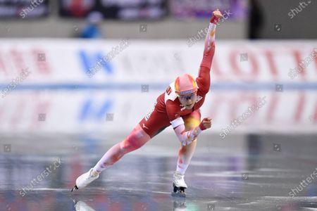 Sumire Kikuchi - Speed Skating : The 27th All Japan Speed Skating Single Distance Championships Women's 500m at M-Wave in Nagano, Japan.