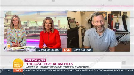 Kate Garraway, Charlotte Hawkins and Adam Hills