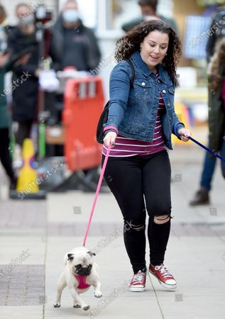 Stock Photo of Dani Harmer continues to film the new series of My Mum Tracy Beaker,