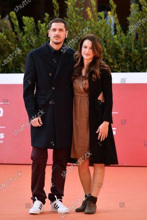 Gabriele Mainetti with fiancee Alice Vicario