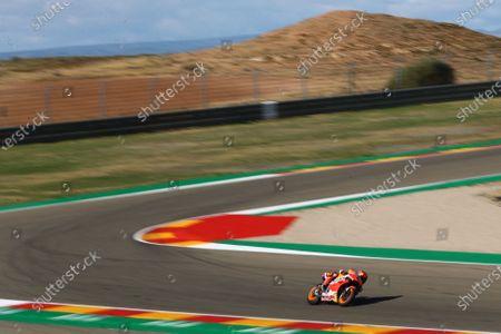 MOTORLAND ARAGON, SPAIN - OCTOBER 23: Stefan Bradl, Repsol Honda Team during the Teruel GP at Motorland Aragon on October 23, 2020 in Motorland Aragon, Spain. (Photo by Gold and Goose / LAT Images)
